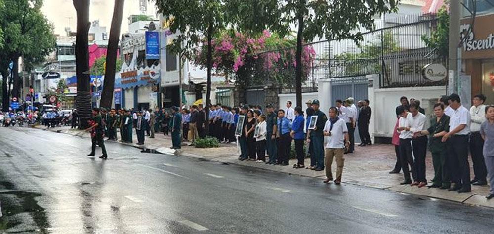 Lễ an táng, nguyên Chủ tịch nước Lê Đức Anh, tại TP Hồ Chí Minh