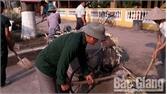 Hội Cựu chiến binh xã Đồng Sơn ra quân vệ sinh môi trường