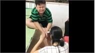 Cậu bé khóc lóc khi đi sát trùng vết thương