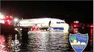 Mỹ: Máy bay Boeing 737 lao xuống  sông, không có thương vong
