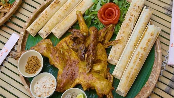 Grilled chicken, a must-try dish when visiting Central Highlands