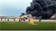 Máy bay Nga cháy ngùn ngụt khi hạ cánh, hàng chục người thương vong
