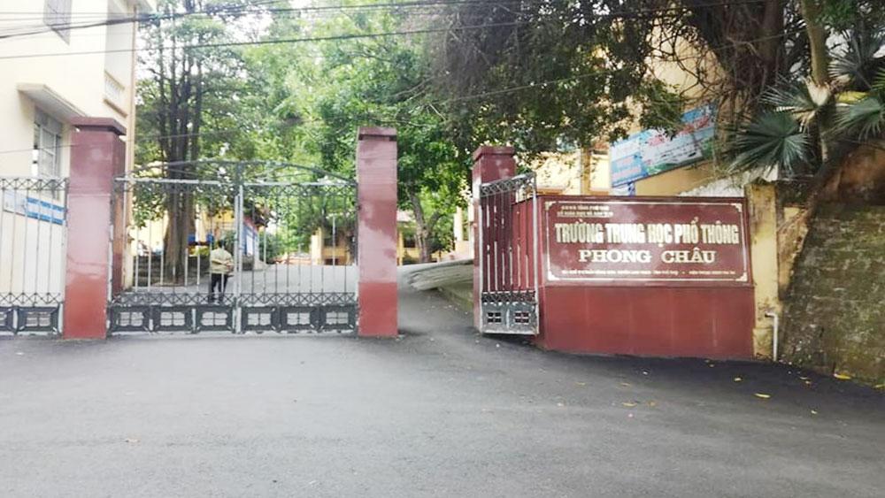 Sở GDĐT Phú Thọ, thông tin nam sinh lớp 10, làm 4 bạn nữ có thai, Trường THPT Phong Châu