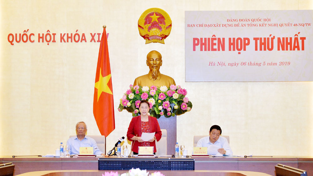 Chủ tịch Quốc hội Nguyễn Thị Kim Ngân, chủ trì, Phiên họp thứ nhất, Ban Chỉ đạo xây dựng, Đề án tổng kết Nghị quyết 48/NQ-TW