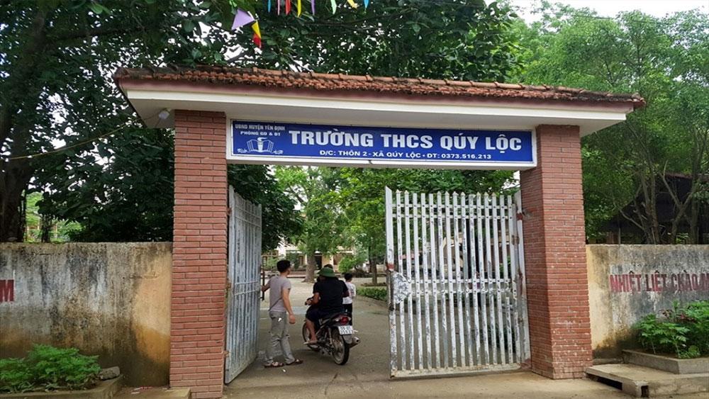 Nhắc nhở học sinh, thầy giáo, bị người nhà tới trường đánh, nhập viện, thầy Tuấn Anh, Trường THCS Quý Lộc,Ngô Văn Chiến