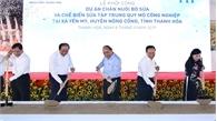 Thủ tướng Nguyễn Xuân Phúc dự Lễ khởi công Dự án chăn nuôi bò sữa và chế biến sữa tại Thanh Hóa