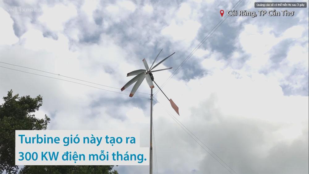 Thợ cơ khí miền Tây chế tạo turbine gió phát điện