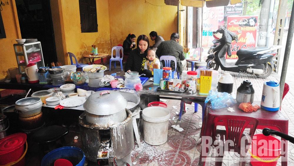 TP Bắc Giang, dịch vụ ăn uống, trật tự, vệ sinh đô thị, nhà hàng, quán ăn