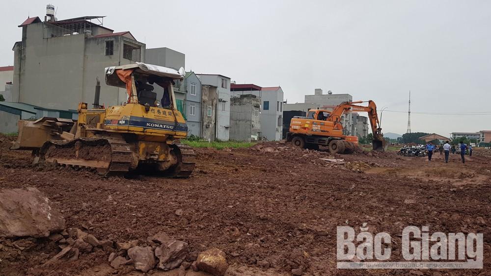 TP Bắc Giang, cưỡng chế thu hồi đất, xã Tân Mỹ, Bắc Giang