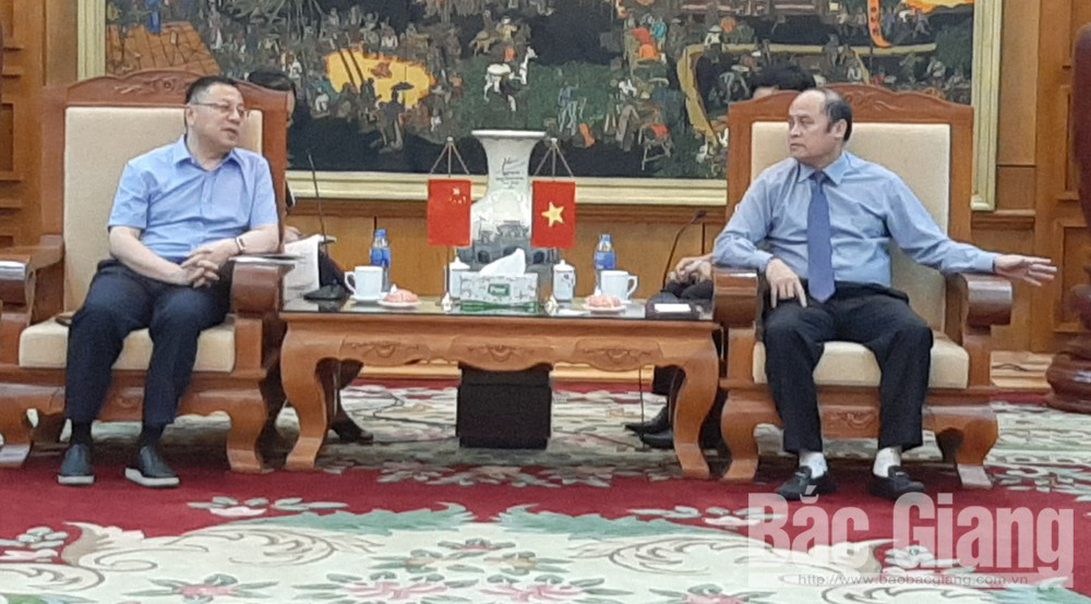Shanghai Fengxian delegation (China) seeks investment opportunity in Bac Giang