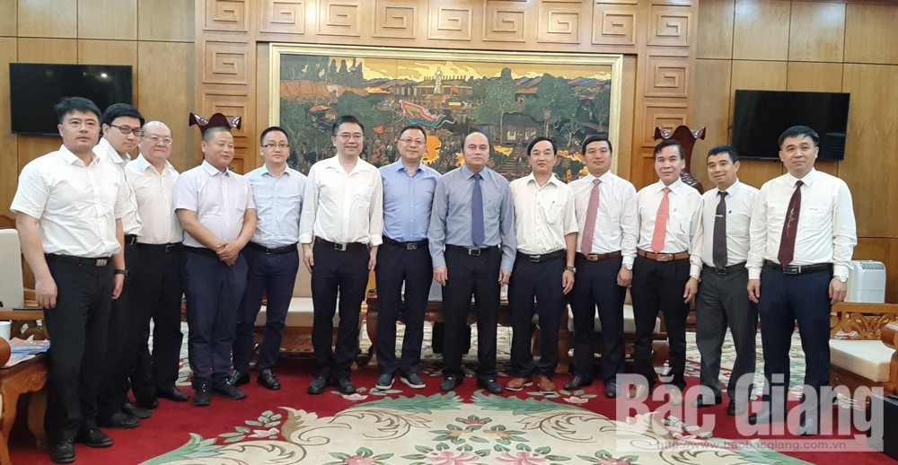 Shanghai, Fengxian delegation, investment oppoturnity, Bac Giang province, Vice Mayor Gu Yi,  mutual cooperation and benefit, hi-tech, farm produce processing projects