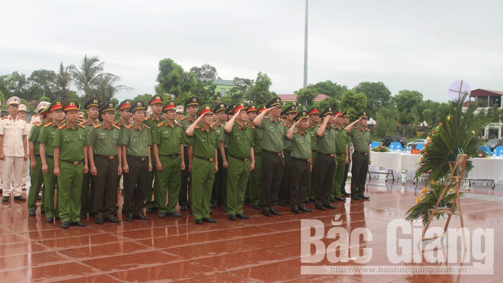 Provincial PSF, Bac Giang province, exemplary models, studying and following Uncle Ho, Public Security Force, Memorial Site, 6 Teachings