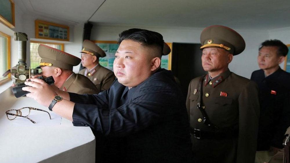 KCNA, Chủ tịch Kim Jong Un, giám sát, diễn tập tấn công tầm xa