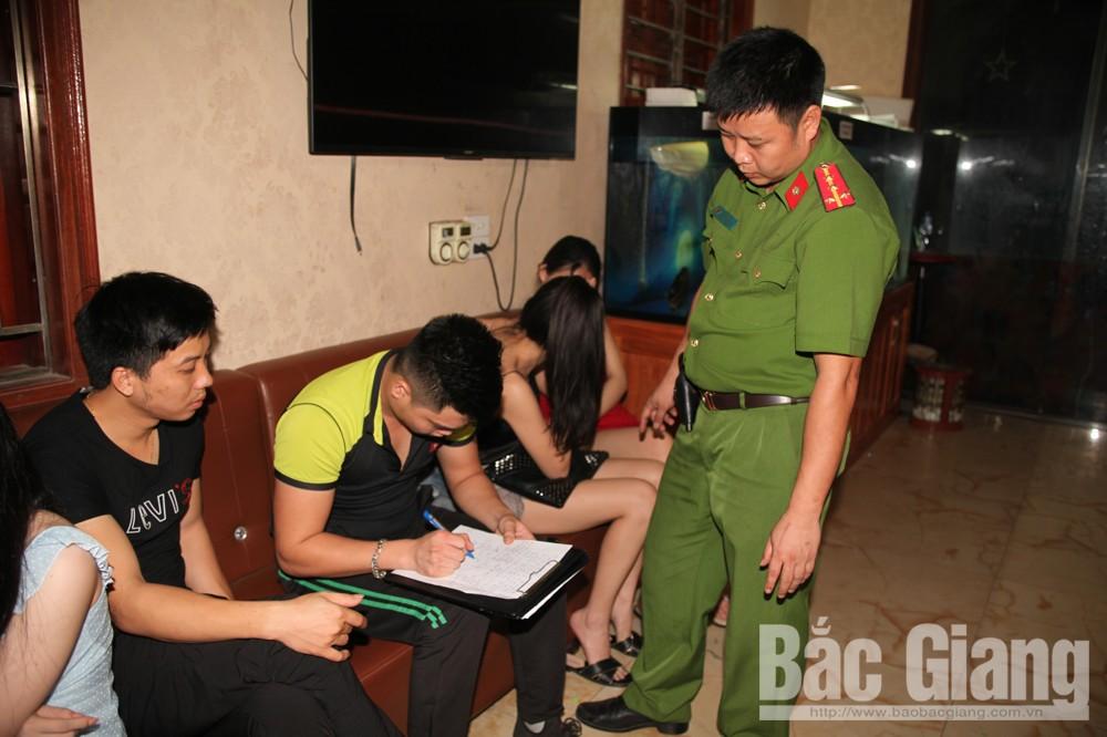 Công an tỉnh Bắc Giang, Công an thành phố Bắc Giang,  Karaoke Ngọc Trường, ma túy, sử dụng ma túy tập thể