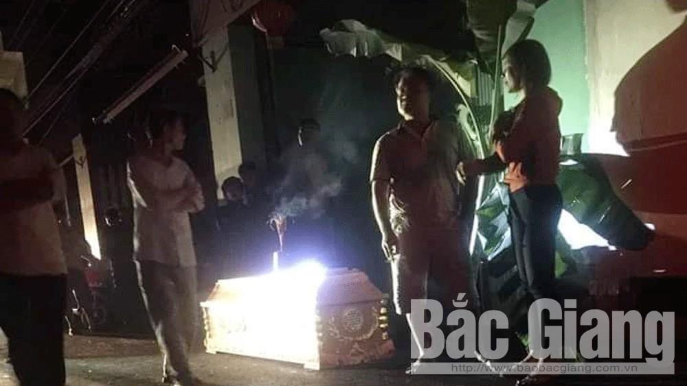Tín dụng đen, vỡ nợ, mang quan tài đi đòi tiền, tỉnh Bắc Giang