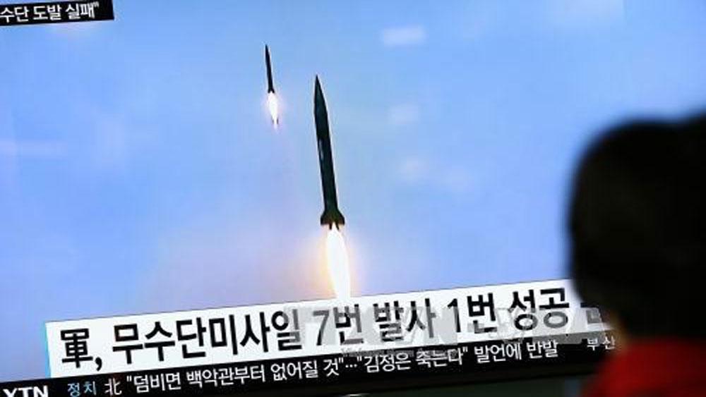 Nhật Bản, phản đối, vụ phóng tên lửa của Triều Tiên