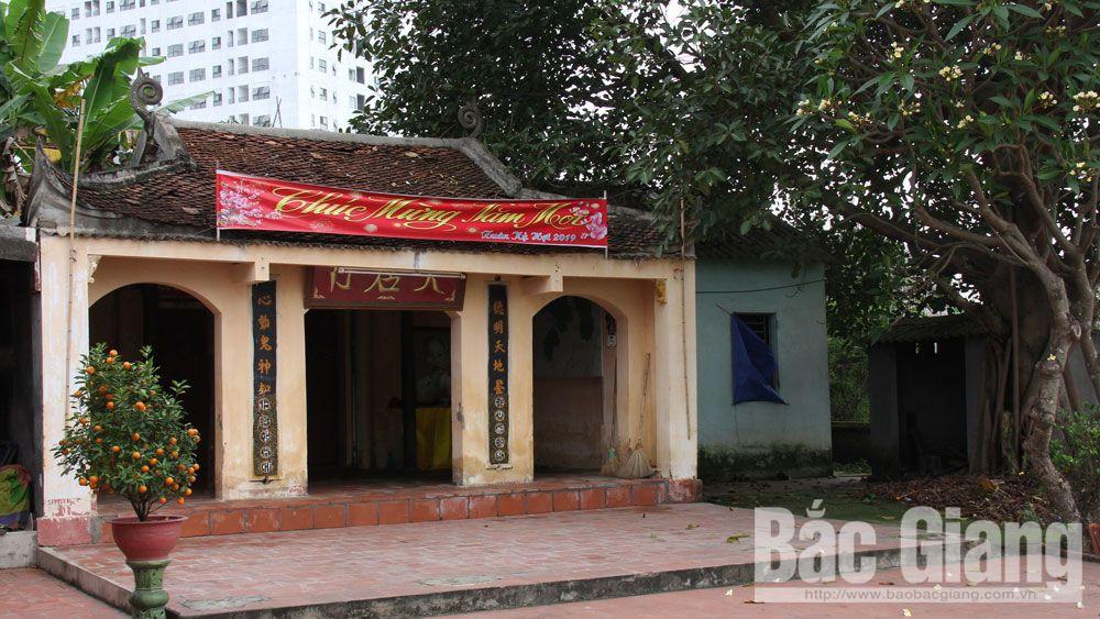 Điếm Thiên, Bắc Giang, di tích, lịch sử