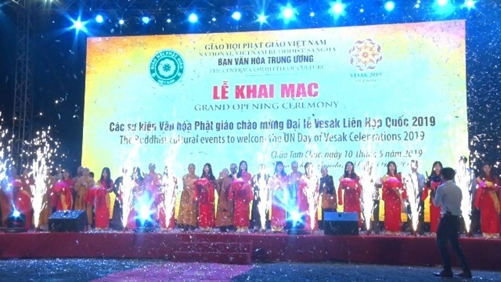 Series of cultural events, UN Day of Vesak Celebrations 2019, Tam Chuc pagoda, Ha Nam province, Vietnam Buddhist Sangha, artistic stone exhibition