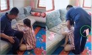 Chồng dán băng keo vào mông trộm tiền trước mặt vợ