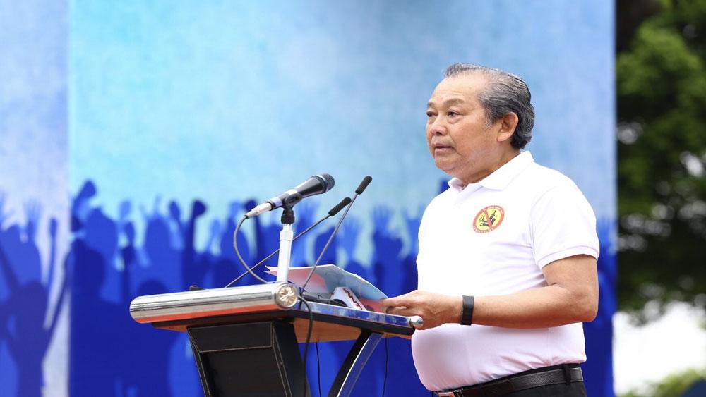 """Phó Thủ tướng Trương Hòa Bình, kêu gọi, hành động, """"Đã uống rượu bia - Không lái xe"""""""