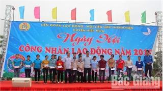 Hiệp Hòa: Sôi nổi ngày hội công nhân, người lao động năm 2019