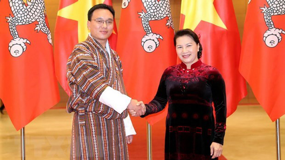 Top legislator, holds talks, Bhutan, National Council Chairman, official visit, UN Day of Vesak, high-ranking Bhutan leader, fruitful friendship, diplomatic ties