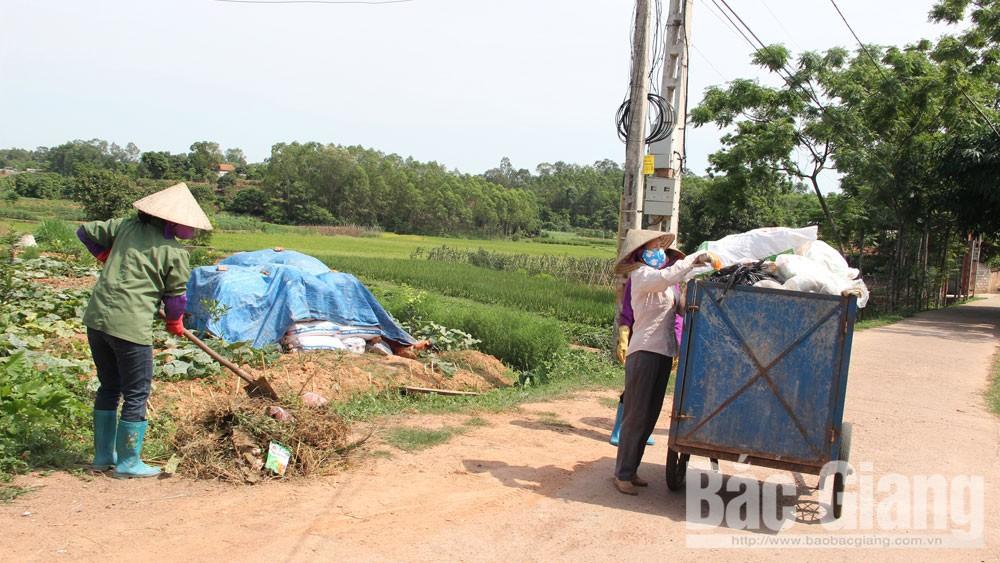 Lạng Giang, Bắc Giang, trách nhiệm người đứng đầu, thu gom, vận chuyển, xử lý rác thải sinh hoạt, Thu giá dịch vụ vệ sinh môi trường