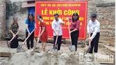 Khởi công xây dựng nhà mới tặng hộ nghèo ở phường Trần Nguyên Hãn