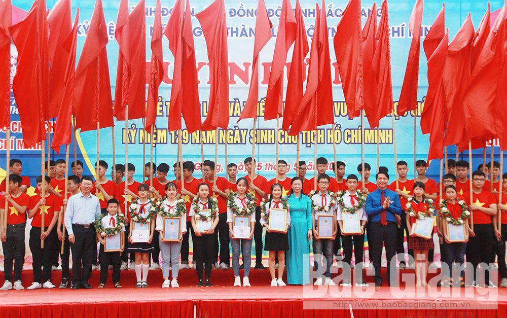 Bắc Giang, sống trẻ, thanh niên, thiếu nhi, trẻ em, Trung tâm Hoạt động Thanh thiếu niên, Hội đồng Đội, Lê Thị Thu Hồng, Lê Ánh Dương