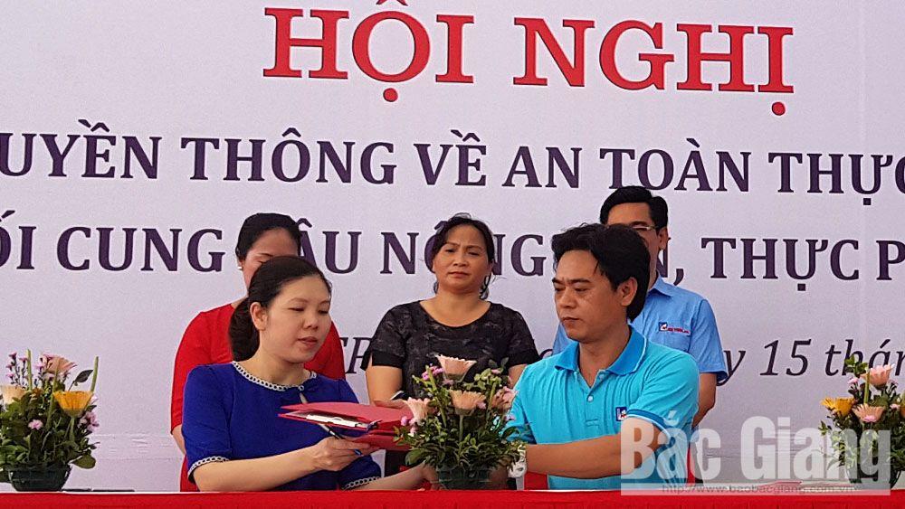 Truyền thông an toàn thực phẩm, kết nối cung cầu nông sản, thực phẩm sạch, TP Bắc Giang