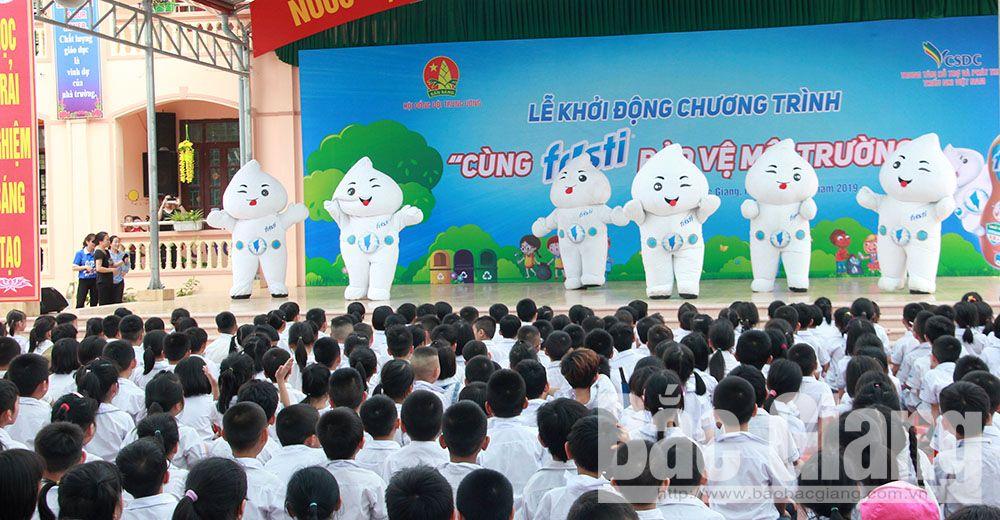 Bắc Giang, sống trẻ, bảo vệ môi trường, thiếu nhi, thanh niên, Fristi Việt Nam, hỗ trợ, sân vui chơi