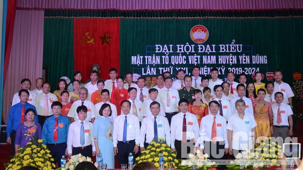 Yên Dũng, Đại hội MTTQ, nhiệm kỳ mới, 8 chỉ tiêu chính