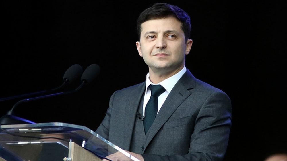 Tổng thống mới của Ukraine, nhậm chức, vào ngày 20-5, Tổng thống đắc cử Vladimir Zelensky