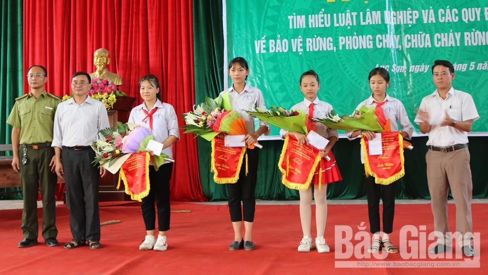 Lục Nam tổ chức hội thi tìm hiểu Luật lâm nghiệp