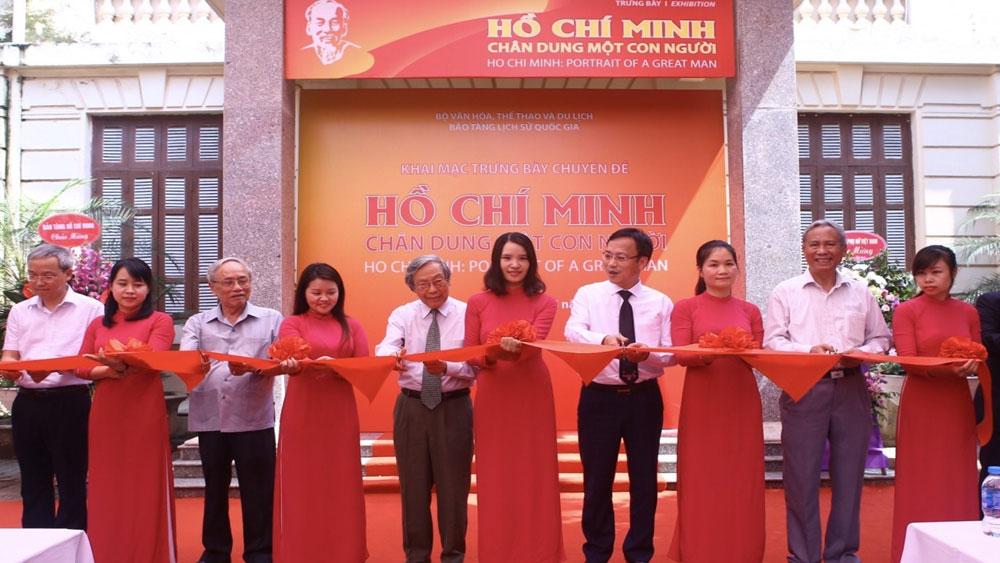 """50 năm thực hiện Di chúc Bác Hồ, Khai mạc, trưng bày """"Hồ Chí Minh - Chân dung một con người"""", Bảo tàng Lịch sử quốc gia"""