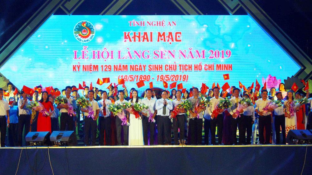 Kỷ niệm 129 năm Ngày sinh Chủ tịch Hồ Chí Minh, khai mạc, Lễ hội Làng Sen năm 2019