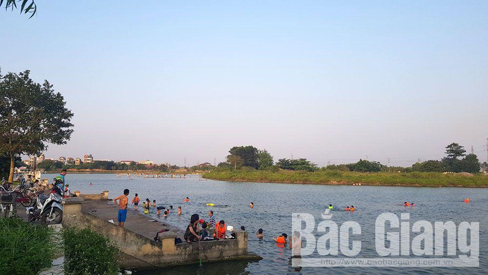 Bắc Giang, nắng nóng, bể bơi, thanh niên, thiếu niên, đuối nước, Quang Minh, Mường Thanh