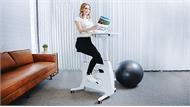 Bàn làm việc kết hợp xe đạp giúp người dùng tập luyện