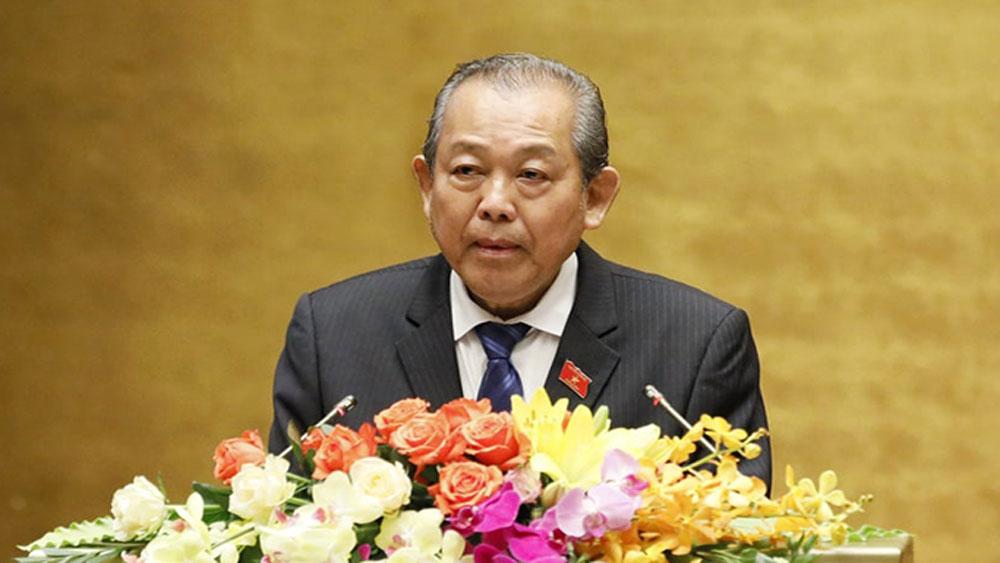 Không để xảy ra sai phạm, gian lận thi THPT năm 2019, Phó Thủ tướng Trương Hòa Bình, Kỳ họp thứ 7, Quốc hội khóa XIV.