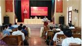 Bí thư Huyện ủy Lục Ngạn Thân Văn Khánh đối thoại với cán bộ, đảng viên và nhân dân xã Nghĩa Hồ
