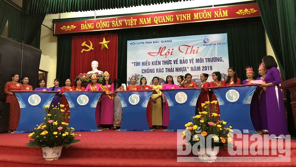 Bắc Giang, phụ nữ Tân Yên, Thi bảo vệ môi trường, chống rác thải nhựa, Tân Yên,