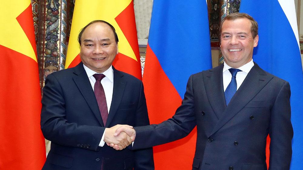 Thủ tướng Nguyễn Xuân Phúc, hội đàm, Thủ tướng Liên bang Nga, Thủ tướng Chính phủ Liên bang Nga Dmitry A. Medvedev.