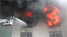 Khó khăn trong việc dập tắt đám cháy tại khu công nghiệp Bình Dương