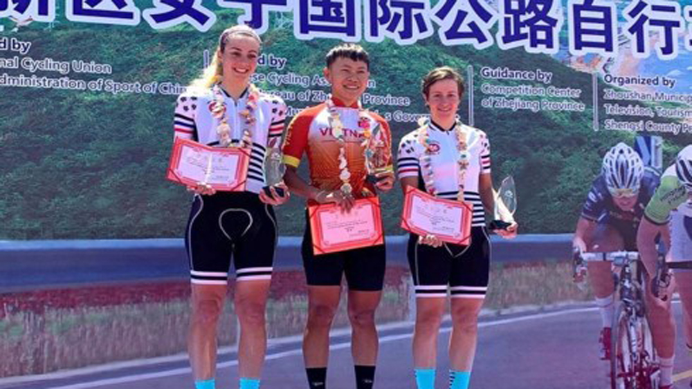 Vietnamese cyclist, Tour of Zhoushan Island I, Nguyen Thi That, first stage, Asian champion, Team Illuminate from Malaysia