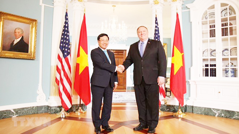 Vietnam, relations with US, comprehensive partnership, territorial integrity, political systems, international cooperation, economy-trade ties, high-level delegations