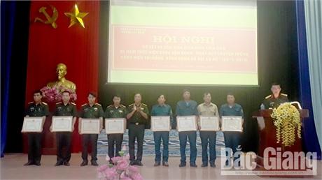 Đảng ủy Quân sự huyện Lục Nam tôn vinh điển hình tiên tiến