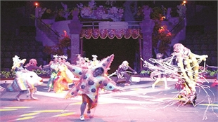 Circus performance calls on people to protect environment