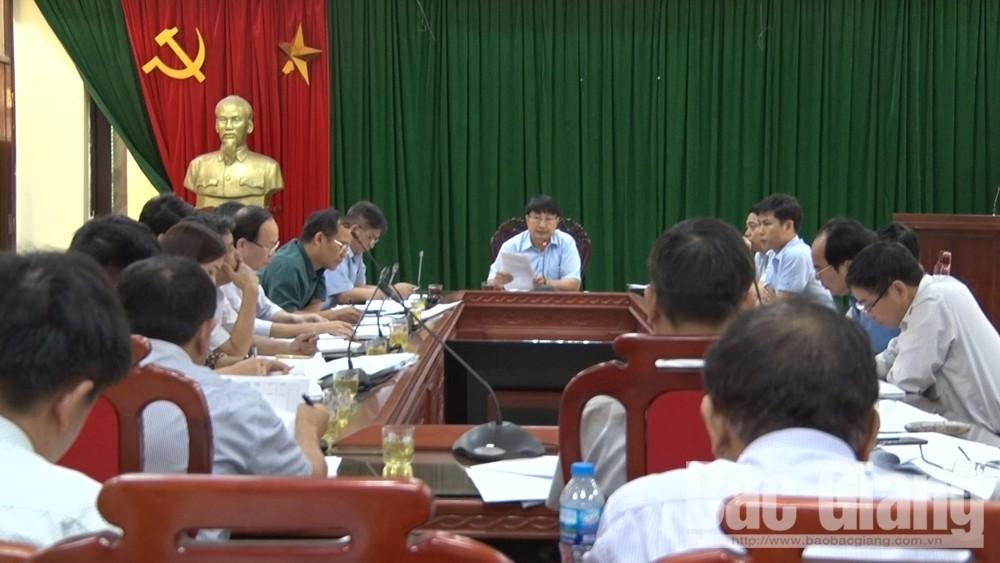 Giao ban, các cơ quan chuyên môn, chủ tịch UBND các xã thị trấn, Đặng Văn Nhàn, UBND huyện Lục Nam