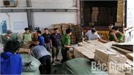 Lực lượng chức năng tỉnh Bắc Giang tiêu hủy 1,3 tấn táo đỏ sấy khô nhập lậu