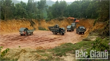 Hàng nghìn m3 đất ở huyện Sơn Động bị khai thác trái phép
